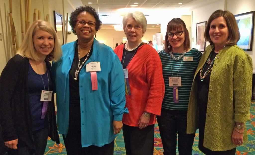 Junior League of Syracuse members with AJLI faculty at a Junior League conference, March 2014