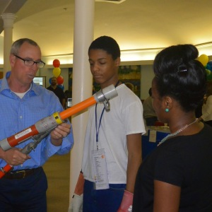 The Junior League of Syracuse and Syracuse City School District collaborate on the second annual STEM Expo at Danforth Middle School, May 2014