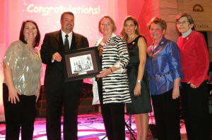 The Junior League of Syracuse was awarded the William C. Towsley Award by McMahon/Ryan Child Advocacy Site, November 2012